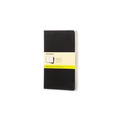 """3ct Blank Journals 5.25"""" x 8.25"""" Black - Moleskine"""