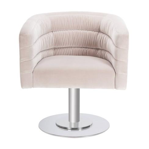 Enjoyable Marie Velvet Swivel Tub Chair Giotto Almond Safavieh Camellatalisay Diy Chair Ideas Camellatalisaycom