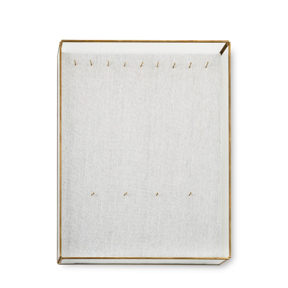 Glass and Linen Jewelry Wall Board White - West Emory