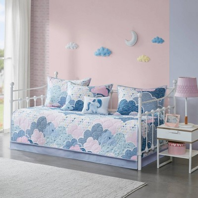 Euphoria Cotton Reversible Daybed Cover Set Blue