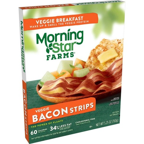 Morningstar Farms Veggie Breakfast Bacon Frozen Strips - 5.25oz - image 1 of 4