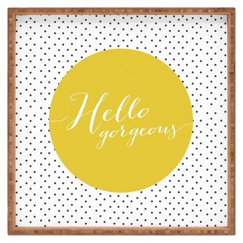 Allyson Johnson Hello Gorgeous Square Tray - Yellow - Deny Designs® - image 1 of 1
