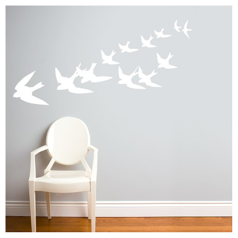 Freedom Birds Wall Decal - White - image 1 of 1