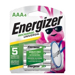 Energizer Recharge Universal AAA Batteries 4 ct