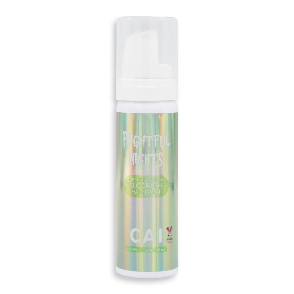 Image of CAI Holographic Hair Foam - Mermaid Green