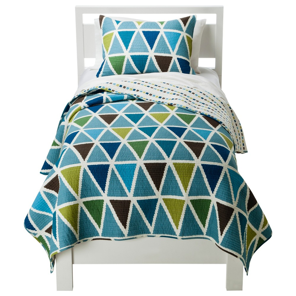 Image of Charlie Quilt Set - Full/Queen, Blue