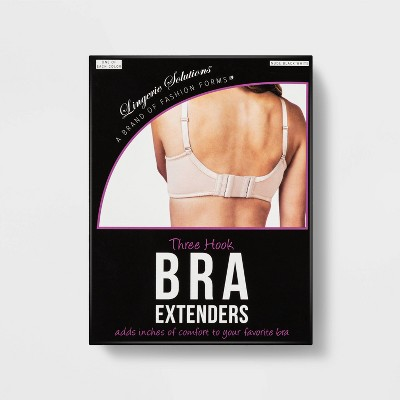 Fashion Forms Women's 3 Hook Bra Extender  - 3 Pack