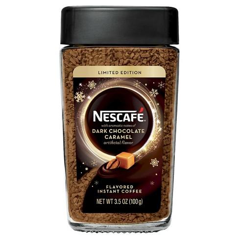 Nescafe Dark Chocolate Caramel Instant Dark Roast Coffee - 3.5oz : Target