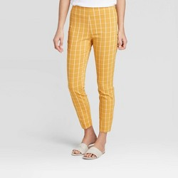 Women's Plaid High-Rise Skinny Ankle Pants - A New Day™