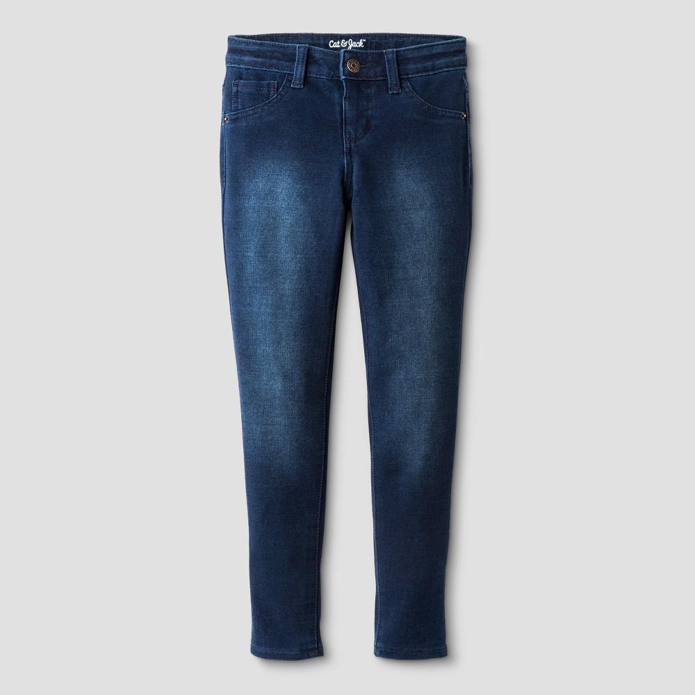 Girls' Knit Leggings Pants - Cat & Jack Dark Blue M