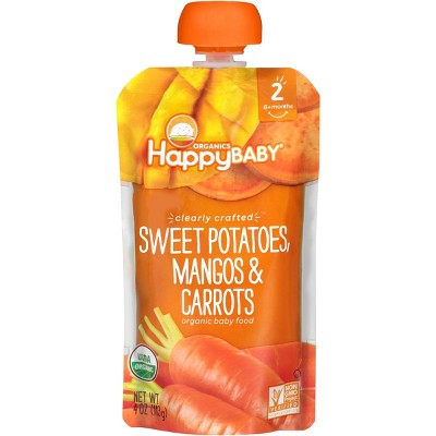 Happy Baby Clearly Crafted, Sweet Potatoes & Carrots - 4oz