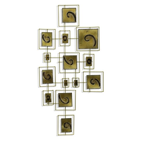 """43"""" Squares Within Squares Metal Decorative Wall Art Brown - StyleCraft - image 1 of 2"""
