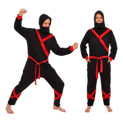 FUNZIEZ! - Ninja Slim Fit Adult Unisex Novelty Union Suit