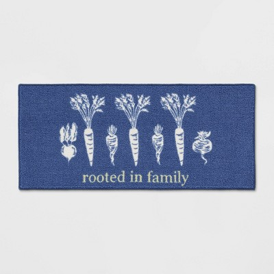 45 x20  Rooted Kitchen Rug Blue - Threshold™