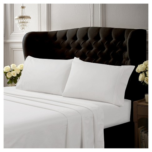 Egyptian Cotton Sateen Deep Pocket 4pc Solid Sheet Set 500 Thread Count - Tribeca Living® - image 1 of 1