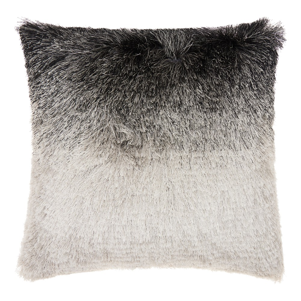 Image of Black/Silver Ombre Throw Pillow - Mina Victory