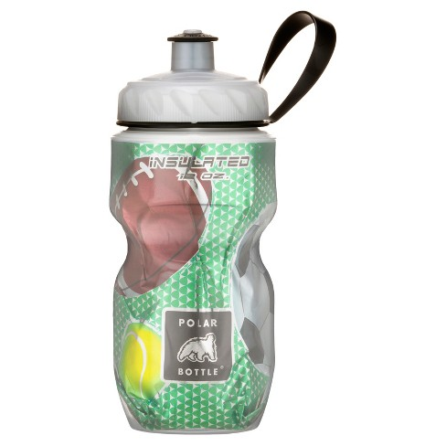 Polar Bottle  12oz Insulated Kids' Water Bottle - Green Sports Print - image 1 of 1