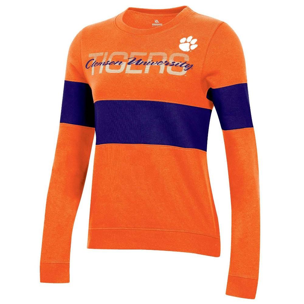 Ncaa Clemson Tigers Women 39 S Long Sleeve Crew Neck Sweatshirt L