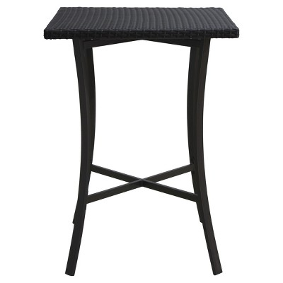 Riga Square Wicker Bar Table - Brown - Christopher Knight Home