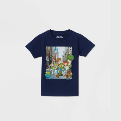 Toddler Boys' Toy Story Dash Graphic T-Shirt - Navy 3T