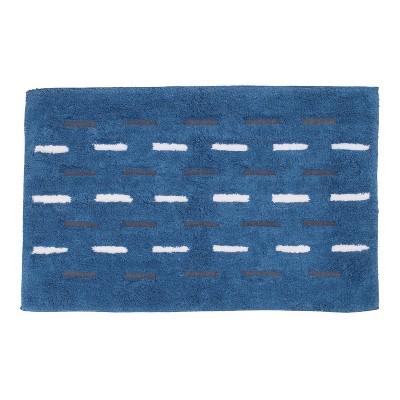Dash Bath Rug Blue - Allure Home Creations