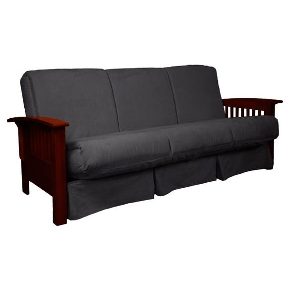 Strange Craftsman Perfect Futon Sofa Sleeper Mahogany Wood Finish Slate Gray Epic Furnishings Pabps2019 Chair Design Images Pabps2019Com