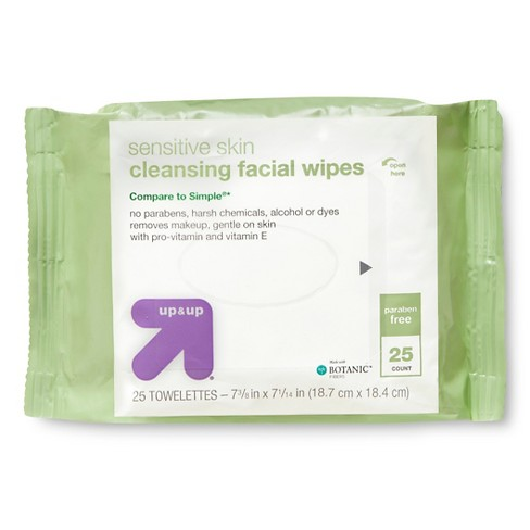 Facial Cleansing Wipes - 25ct - Up&Up™ - image 1 of 3