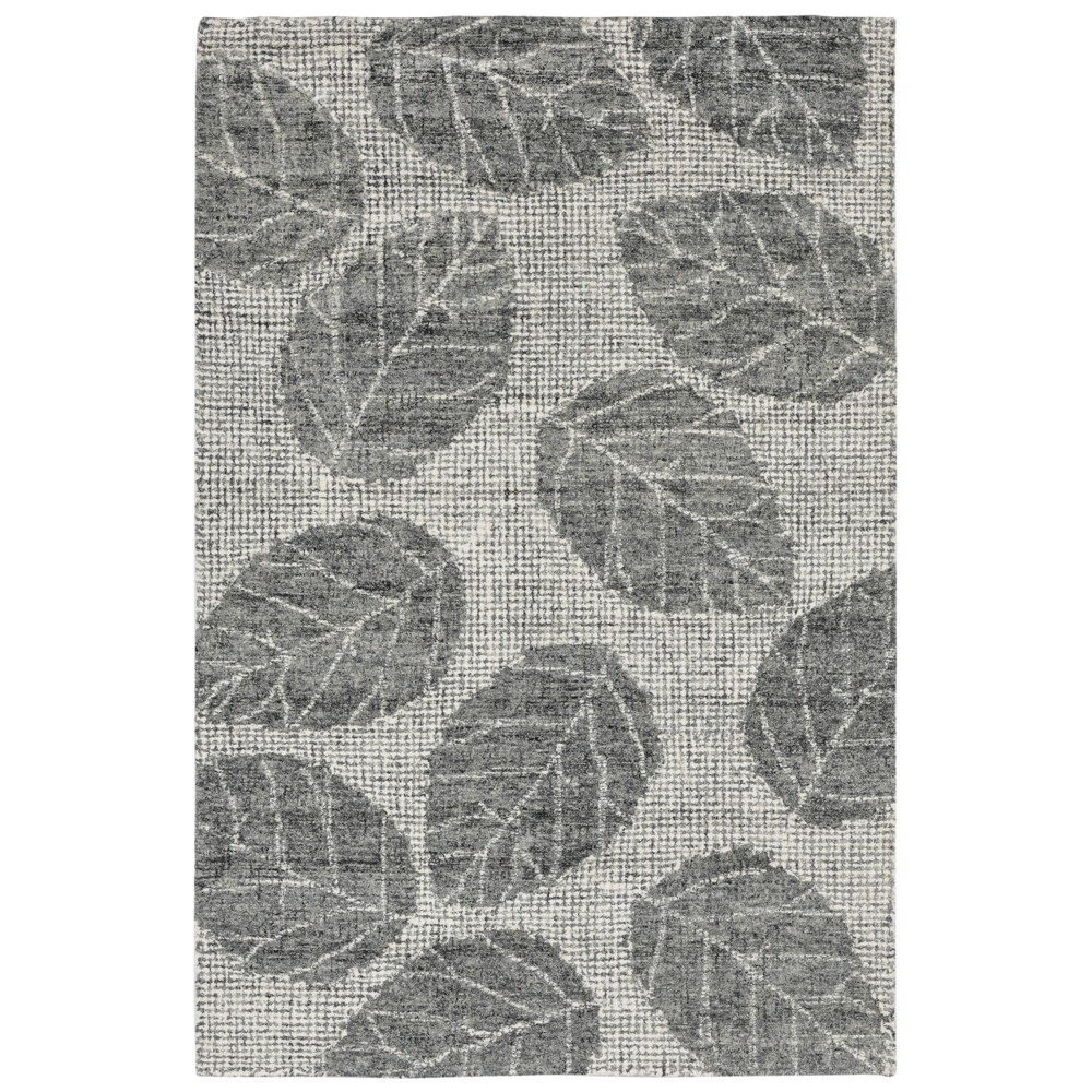 """Image of """"3'3""""""""X4'11"""""""" Leaf Tufted Accent Rug Gray - Liora Manne"""""""