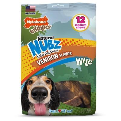 Nylabone Nubz Small/Medium Antler Chews Venison Flavored 12ct