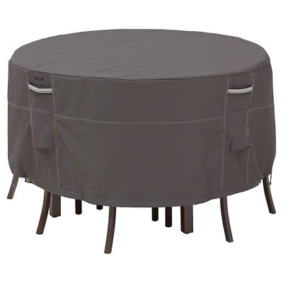 Ravenna Bistro Patio Table And Chair Set Cover - Dark Taupe - Classic Accessories