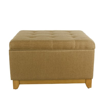 Charmant Homepop Oversized Square Storage Ottoman With Wood Apron