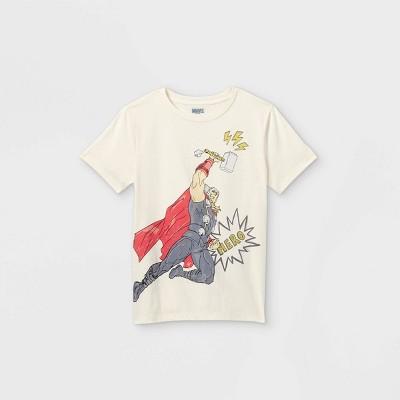 Boys' Marvel Thor Short Sleeve Graphic T-Shirt - Off-White - Disney Store
