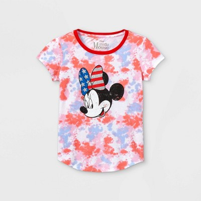 Girls' Disney Minnie Mouse Tie-Dye Short Sleeve Graphic T-Shirt