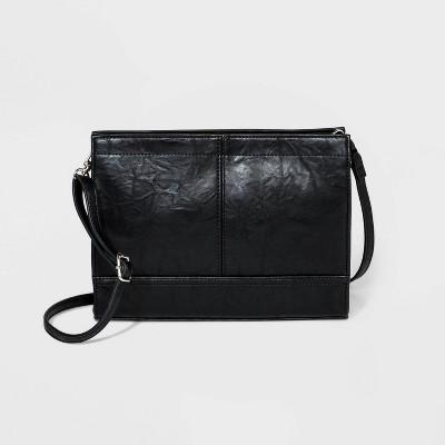 Bueno Zip Closure Crossbody Bag - Black