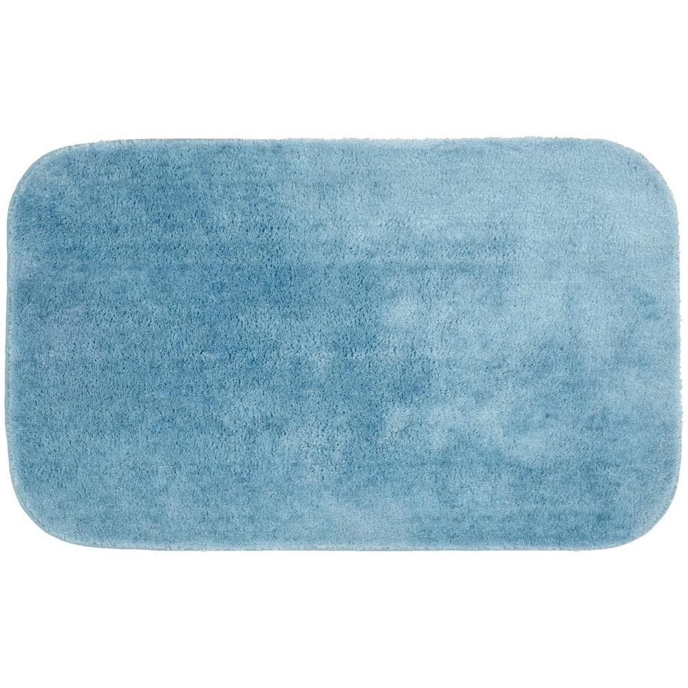 """Image of """"24""""""""x40"""""""" Traditional Plush Washable Nylon Rug Basin Blue - Garland, Size: 24""""""""x40"""""""""""""""