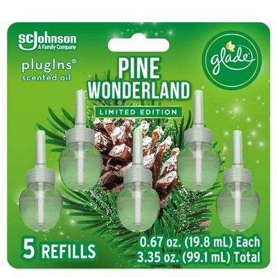 Glade PlugIns Scented Oil Air Freshener Refills - Pine Wonderland- 5ct/3.35oz