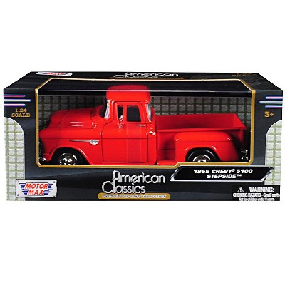 9df6d0c28a471 1955 Chevrolet 5100 Stepside Pickup Truck Orange 1 24 Diecast Model Car By  Motormax   Target