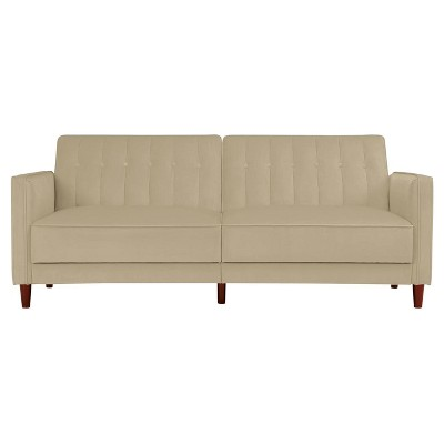 Isabella Tufted Velvet Futon - Room & Joy