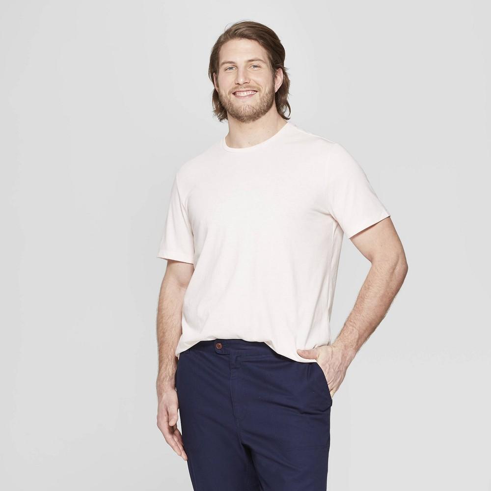 Men's Big & Tall Standard Fit Short Sleeve Lyndale Crew Neck T-Shirt - Goodfellow & Co Dusk Pink 5XB was $8.0 now $5.0 (38.0% off)