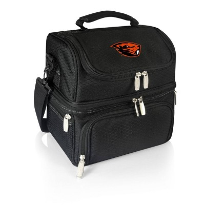 NCAA Oregon State Beavers Pranzo Dual Compartment Lunch Bag - Black