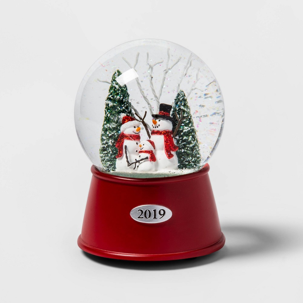 "Image of ""5.5"""" x 3.8"""" Christmas Snowman Family Musical Snow Globe - Wondershop"""