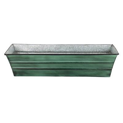 Small Galvanized Metal Rectangular Planter Box - ACHLA Designs