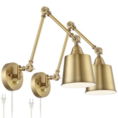 360 Lighting Modern Swing Arm Wall, Bedside Reading Wall Lamps