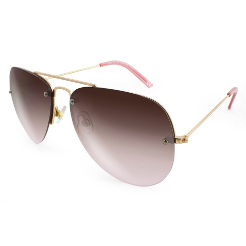 c775ba775249 Women s Aviator Sunglasses With Rose Smoke Lenses - A New Day™ Gold ...