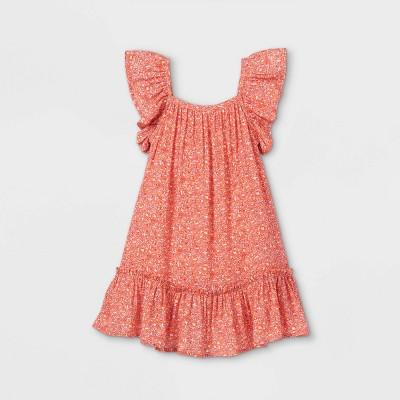 Toddler Girls' Woven Dress - Cat & Jack™ Red