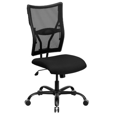 HERCULES Series 400 lb. Capacity Big & Tall Executive Swivel Office Chair Black Mesh - Flash Furniture