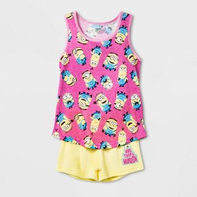 Girls' Minions 2pc Pajama Set - Pink