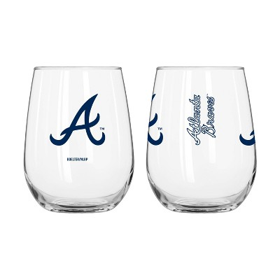 MLB Atlanta Braves Gameday Curved Beverage Glass - 16oz