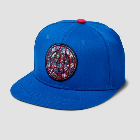 338fa25c9f400 Boys  Marvel Avengers Hat - Blue Red   Target