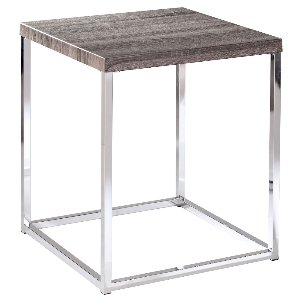 Meadow End Table - Gray - Aiden Lane